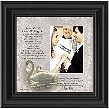 Amazon.com - Wedding Gift for Parents of Bride or Groom - On Our ...