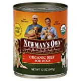 Newmans Own Organic Grain Free Can Dog Food Beef