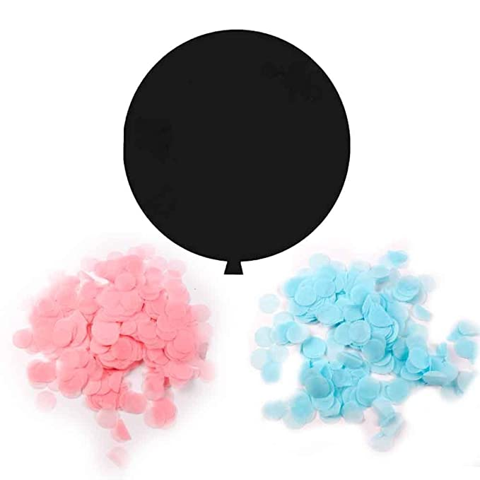 Amazon.com: Gender Reveal Party Supplies (42 Pieces) - Baby Shower Decorating Kit, Gender Reveal Balloon, Boy or Girl Banner, Tissue Paper Pom Pom, ...