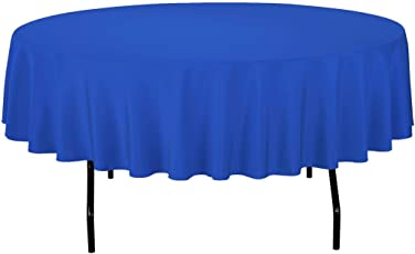 Gee Di Moda Tablecloth - Round Tablecloths for Circular Table Cover in Washable Polyester - Great for Buffet Table, Parties, Holiday Dinner & More