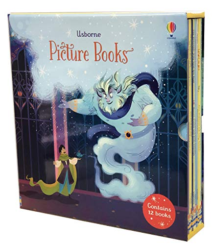 Usborne 12 Classics Picture Books Collection Box Set (Elves & The Shoemaker, The Wind in the Willows, Under the Sea, The Gingerbread Man, On A Pirate Ship, Goldilocks and the - Gingerbread Bear