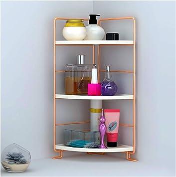 Amazon Com 3 Tier Bathroom Countertop Organizer Vanity Tray Cosmetic Makeup Storage Kitchen Spice Rack Standing Shelf Corner Storage Shelf Rose Gold Home Improvement