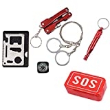 Sos Emergency Equipment Tool Kit First Aid Box Fishing Supplies Outdooors Survival Gear  Essential Women Trekking Kids Tent Camping Men Traveling Fishing Products Festival Park Gear