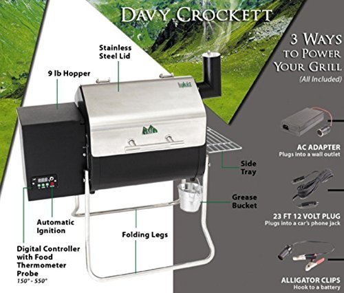 Green Mountain Grills Davy Crockett Pellet Grill – WIFI enabled by Green Mountain Grills (Image #2)