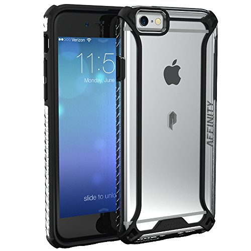 iPhone 6S Case, POETIC Affinity Series [Premium Thin]/No Bulk/Protection where its needed/Clear/Dual Material Protective Bumper Case for Apple iPhone 6S /iPhone 6 (Black/Clear)