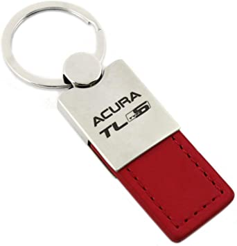 INC Official Licensed Acura Logo Red Leather Car Key Chain Au-Tomotive Gold