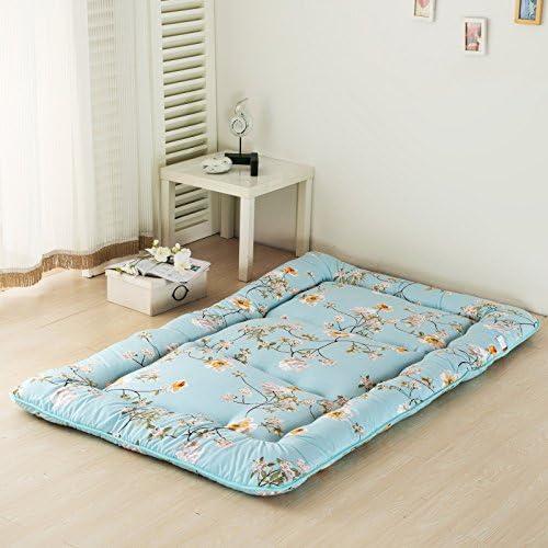 Amazon Com Flowers Blue Futon Tatami Mat Japanese Futon Mattress