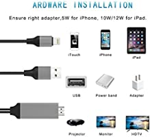 Cable Lightning a HDMI, Limxems HDTV MHL Adaptador de Cable Plug y ...