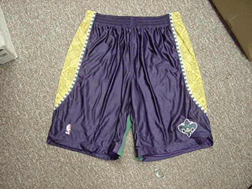 Eric Gordon Mardi Gras Adidas New Orleans Hornets Game Worn Shorts