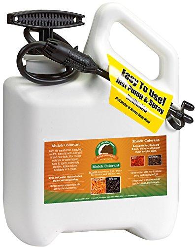 Just Scentsational MC-1FBRN Bark Mulch Colorant with Pump Sprayer, Brown, 128oz (1 Gallon)