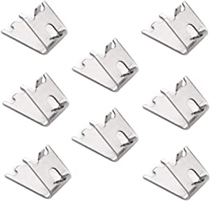 8 Pack 920158 Commercial Freezer Shelf Clips Refrigerator Shelf Clips Stainless Steel Fridge Cooler Shelf Support Clips Refrigerator Shelves Parts