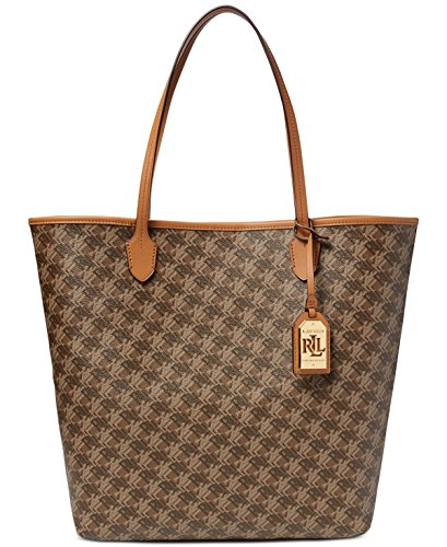 LAUREN Ralph Lauren Women's Dobson Dalia Tote Brown One - Ralph Lauren Bag Brown