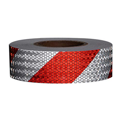 Tuqiang High High Intensity Red Reflective Tape 25 mm X 2.5 M 1pc