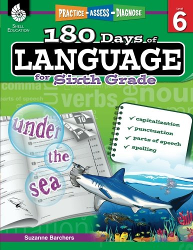 180 Days of Language for Sixth Grade - Build Grammar Skills and Boost Reading Comprehension Skills with this 6th Grade W