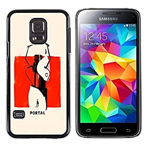LECELL -- Funda protectora / Cubierta / Piel For Samsung Galaxy S5 Mini, SM-G800, NOT S5 REGULAR! -- Abstract Portal Painting --