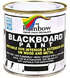 Chalkboard Blackboard Paint - Black 8.5oz - Brush on Wood, Metal, Glass, Wall, Plaster Boards Sign, Frame or Any Surface…