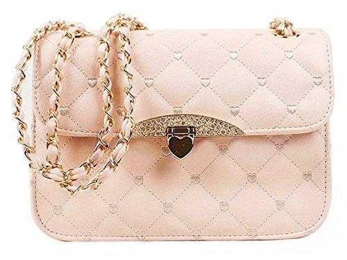 Zeroyoyo Women's Faux Leather Shoulder Bags Cross Body Satchel Cosmetic (Belted Buckle)