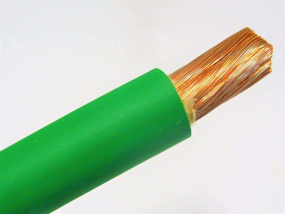BUY PER FOOT 2//0 WELDING BATTERY CABLE GREEN 600V USA EPDM JACKET HEAVY DUTY