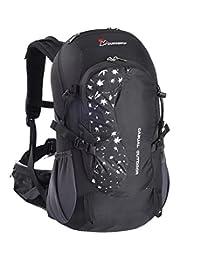Mountaintop Unisex Outdoor Hiking Climbing Camping Backpack Waterproof Mountaineering Bag 30L-Black