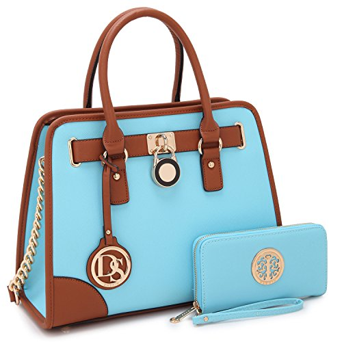 Women Designer Handbags and Purses Ladies Satchel Bags Shoulder Bags Top Handle Bags w/ Matching Wallet
