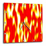 3dRose Flames Fire Wall Clock, 10 by 10-Inch Review