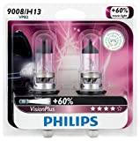 Philips 9008 / H13 VisionPlus Upgrade Headlight Bulb, Pack of 2