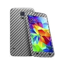 Cruzerlite Carbon Fiber Skin for The Samsung Galaxy S5, Retail Packaging, Graphite (Full Kit