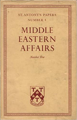 Middle Eastern Affairs Number One Albert Hourani Amazon Books