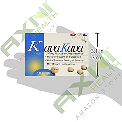 (2 Packs) Kava Kava Muscle Relaxant and Sleep Aid (30ct each)