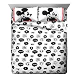 Disney Mickey Mouse Jersey White 4 Piece Full Sheet Set