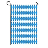 Iceyyyy Oktoberfest Garden Flag, Double-Sided Argyle Bavarian Flag Pattern for October Festival Celebration