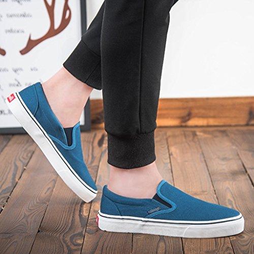 traspirante scarpe Size Color 43 basse YaNanHome coreano da Blue tela piatte pedale stile Espadrillas scarpe Scarpe Bianca pigre moda uomo di terra Scarpe uomo un scarpe da 8qPPxSBW4n