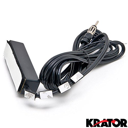 Krator® Hidden Antenna - Fits Car, Truck, Motorcycle, Harley, Boat, Golf Cart, Campers, Amplified Antenna AM FM WB Universal Fit For All Applications AM FM Car Radio Stereo Windshield Hidden Antenna