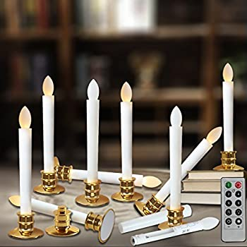 window candles with remote timers battery operated flickering flameless led electric candle lights with removable tapers - Christmas Candle Lights For Windows