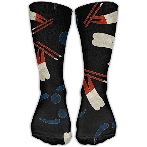 Freestyle-skiing-Dutch-flag-Silhouette Unisex Winter Casual Wool Socks Funny Crew ()