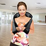 Belmint Shiatsu Neck Back Massager with Heat– Perfect for Car/Office Chair – Massages Neck, Shoulder, Back, Waist (Black)