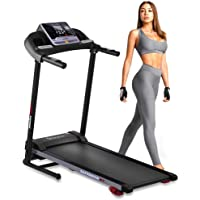 Folding Treadmill Exercise Running Machine - Electric Motorized Running Exercise Equipment w/ 12 Pre-Set Program, Manual…