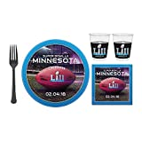 Kick off the big game with a big meal! Get all of your game day tableware in one simple order using our nifty Super Bowl LII Super Value Tableware Party Pack for 24 Guests! Each kit features tableware with the Super Bowl LII colors, logo, and...