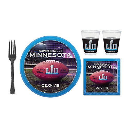 Super Bowl 52 Super Value Tableware Party Pack for 24 Guests