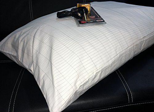 20x28 in Grounding/Earthing Conductive PillowCase. Fits STANDARD size pillows. Cotton material with Silver threads. Safe for kids/adults. Best results in earthing! Washable, easy to use. MADE IN USA.