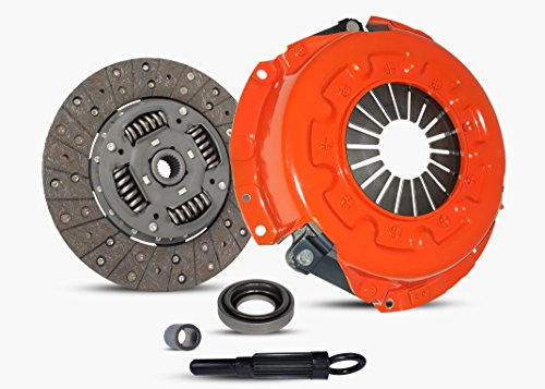 Clutch Kit Works With Nissan Frontier Pathfinder Xterra Xe Se Le Extended Crew Cab Pickup 4-Door Sport Utility 4-Door 1997-2004 3.3L V6 GAS SOHC Naturally Aspirated (Vg33E; Stage 1)