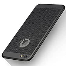 iPhone 6/6S Case, GOOWZ Heat Dissipation Design Ultra-Thin Premium PC Case for iPhone 6S/6 4.7 Inch-Black