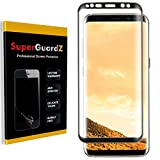 [3-Pack] Samsung Galaxy S8+ / S8 Plus Screen Protector [3D Curved Full Screen Coverage], SuperGuardZ, Ultra Clear, Anti-Scratch, Anti-Bubble [Lifetime Replacement] (Black)