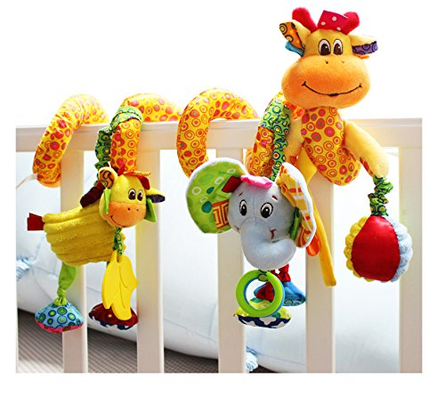 [BabyPrice Infant Baby Baby Wrap Around Crib Rail or Stroller Toy, Stroller Toy, Bed Hanging Toys, Car Seat] (Child Plush Giraffe Costumes)