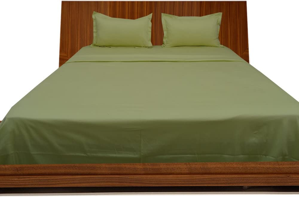 Relaxare Full XXL 300TC 100% Egyptian Cotton Sage Solid 4PCs Sheet Set Solid (Pocket Size: 16 inches)