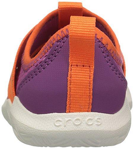 crocs Kinder Unisex 204022 Mokassins Oxford, Pink (Party Pink Tangerine), 22/23 EU