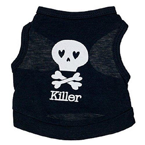 Cute Puppy Small Dog Cat Pet Clothes Skull Vest T Shirt Apparel Clothes New