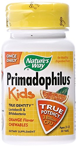 (Nature's Way Primadophilus for Kids, Orange, 30 Count (Pack of)