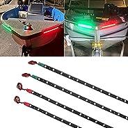LED Boat Navigation Lights Bow Light for Pontoon Kayak Yacht Boat Lights Marine Navigation Lights 12V ( 2RED a