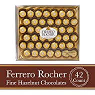 Ferrero Rocher Fine Hazelnut Milk Chocolate, 42 Count, Valentine's Day Chocolate Candy Gift Box